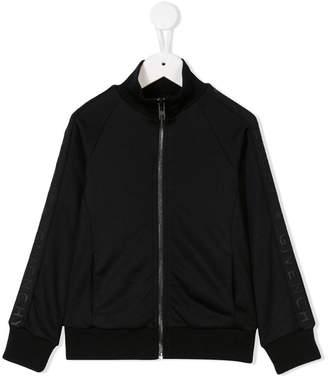 Givenchy Kids logo print bomber jacket