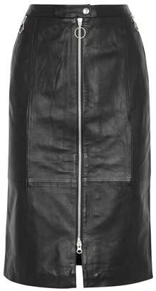 Gestuz Sarah Black Leather Skirt