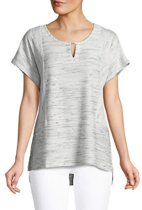 Jones New York Front Keyhole High-Low Top