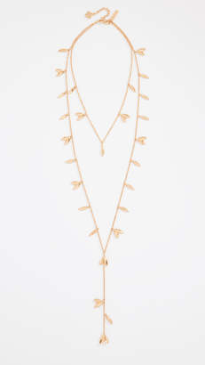Oscar de la Renta Dot Leaf Necklace