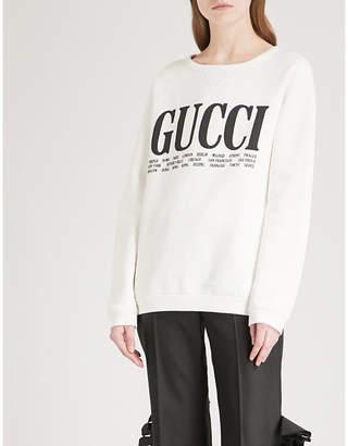 Gucci Cities cotton-jersey sweatshirt