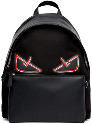 Fendi Black and Red Bag Bugs Backpack