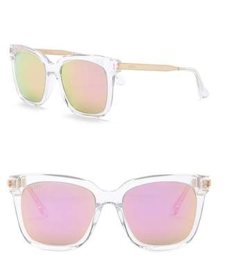 DIFF Bella Square 54mm Acetate Sunglasses