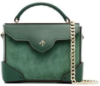 Atelier Manu green micro bold leather shoulder bag