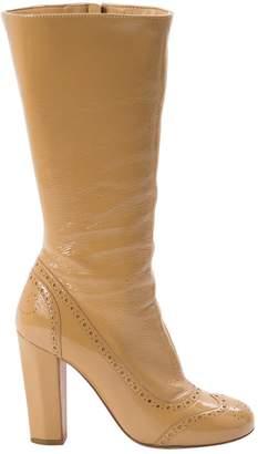 Miu Miu Beige Patent leather Boots