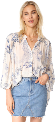 Free People Metallic Blooms Top $98 thestylecure.com
