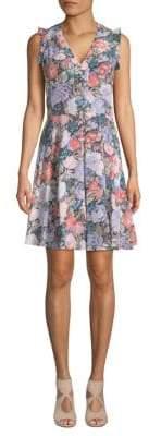 Rebecca Taylor Penelope Floral-Print Sleeveless Dress