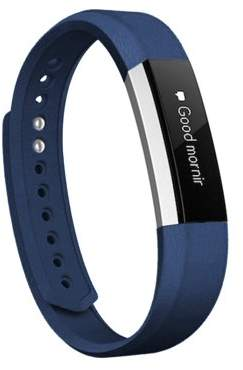 Fitbit Elements Works Fitness Watch Gear Genuine Leather wristband replacement Band for Alta Alta HR By Element Works - Blue