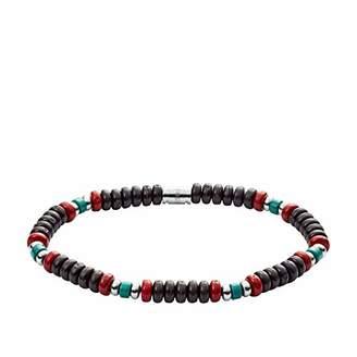 Fossil Men's Turquoise Beaded Bracelet