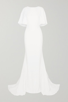 Cushnie Cape-effect Crepe Gown - White