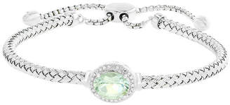 Effy Prasiolite (1-1/2 ct. t.w.) and Diamond Accent Bracelet in Sterling Silver