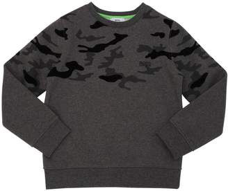 HUGO BOSS Camo Flocked Cotton Sweatshirt