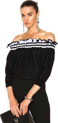 3.1 Phillip Lim Off Shoulder Ruffle Tshirt