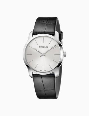 Calvin Klein City Black Leather Watch