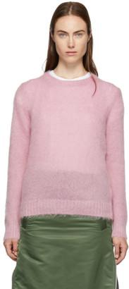 Moncler Pink Mohair Crewneck Sweater