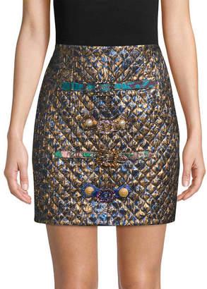 Dolce & Gabbana Jacquard & Quilted Mini Skirt