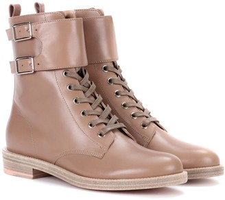 Gianvito Rossi Lagarde leather combat boots