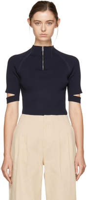 Nomia Navy Zip-Up Pullover