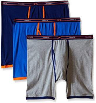 Hanes Men's FreshIQ X-Temp Cotton Stretch Long Leg Boxer Briefs 3-Pack