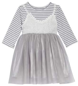 Popatu Stripe Tulle Dress