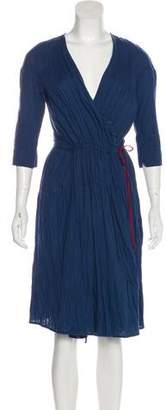 Hazel Brown Casual Midi Dress