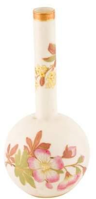 Royal Worcester Antique Floral Bud Vase