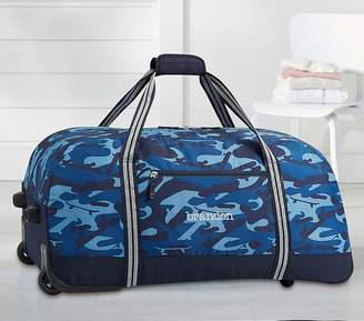 Pottery Barn Kids Mackenzie Blue Skateboard Camo Backpack