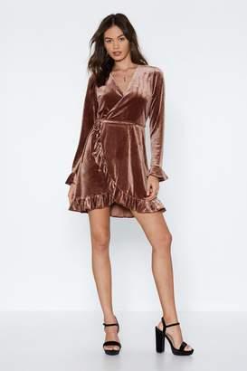 Nasty Gal Feeling It Velvet Dress