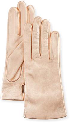 Neiman Marcus Metallic Leather Tech Glove