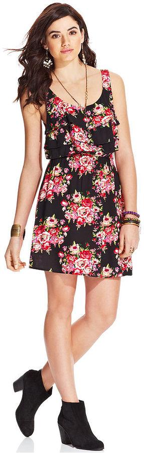 American Rag Ruffled Floral-Print Dress