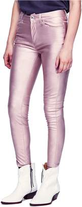 Free People Metallic Faux Leather Pants