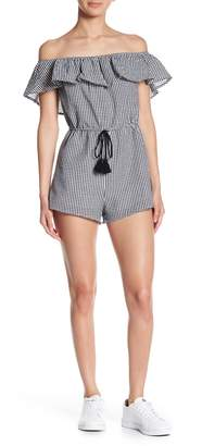 Honeybelle Honey Belle Gingham Off-the-Shoulder Romper