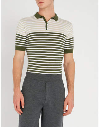 John Smedley Eddris striped cotton polo shirt