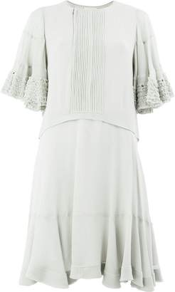 Chloé short-sleeve flared dress