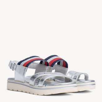 e6184662 Tommy Hilfiger Kids' Signature Tape Strap Metallic Sandals