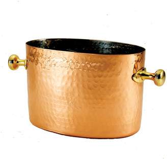 Old Dutch Hammered Decor Copper Double Champagne Chiller