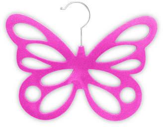 HOME BASICS Home Basics Velvet Butterfly Scarf Hanger, Pack of 2