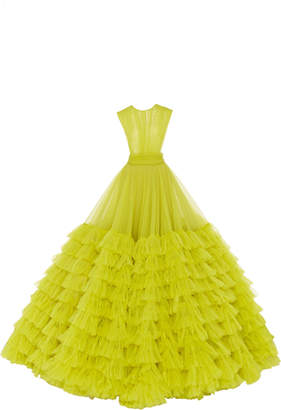 Christian Siriano Tiered Tulle Gown