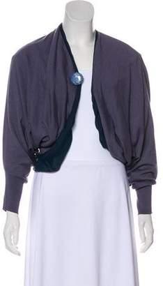 Lanvin Long Sleeve Cashmere & Silk-Blend Cardigan
