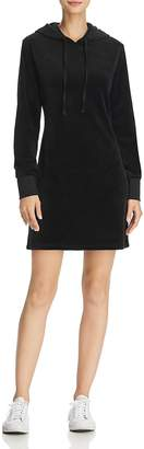 Juicy Couture Black Label Velour Hooded Sweatshirt Dress