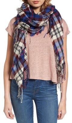 Women's Madewell Softplaid Fringe Scarf $59.50 thestylecure.com