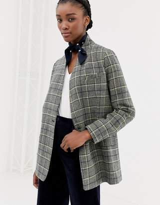 Leon And Harper & Harper Vavin longline checked blazer