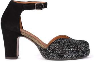 Chie Mihara Ju-maho Black Suede Shoes.