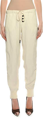 Tom Ford Drawstring Side-Zip Slouchy Track Pants