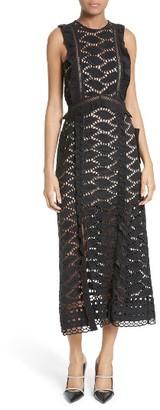 Women's Self-Portrait Lace Midi Dress $595 thestylecure.com