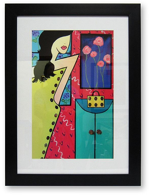 """Out The Door"" Framed Wall Art By Dede Atkins"