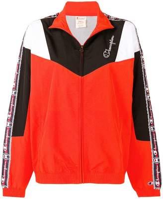 Champion logo stripe shell jacket