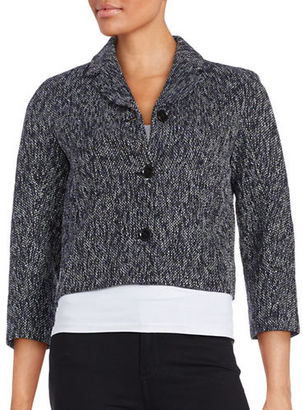 Tommy Hilfiger Three-Button Tweed Jacket $139 thestylecure.com