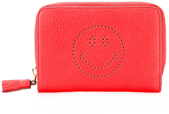 Anya Hindmarch Anya Hindmarch perforated smile face wallet