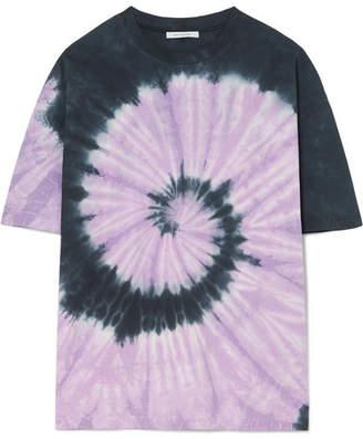 Ninety Percent Oversized Tie-dyed Organic Cotton-jersey T-shirt - Purple